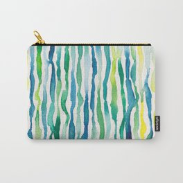 Ocean Zebra Chevron Carry-All Pouch