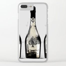 spade champagne Gold, illustration by miart Clear iPhone Case