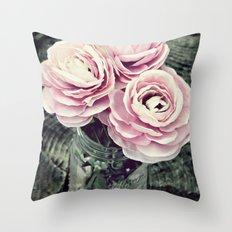 Pretty Ranunculus Throw Pillow
