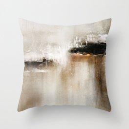 Natural Abstract Painting - Modern Handwritten Contemporary (Most Popular) Throw Pillow