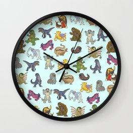 Kaiju Babies Wall Clock