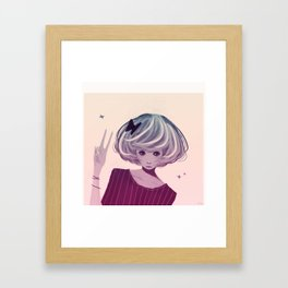 Not Smiling Doesn't Mean Your Not Happy Framed Art Print