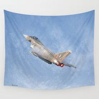 aviation Wall Tapestries featuring Eurofighter  by Peaky40