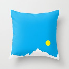 Mountain Sky Day Throw Pillow