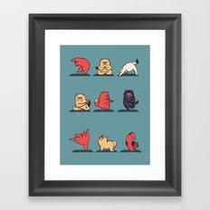 Cat Yoga Framed Art Print