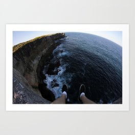 Sea side cliff  Art Print