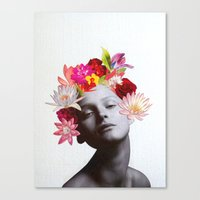 hippy Canvas Prints featuring hippy by Federica Meli