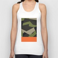 swedish Tank Tops featuring Swedish m90 Camo by Derek Boman