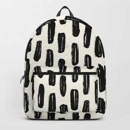 Ivory Vertical Dash Backpack