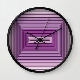 Rectangles shades of purple Wall Clock