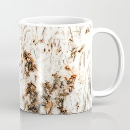 Autumn Granite // Orange and Brownish Natural Stone Patterns White Crystal Background Coffee Mug