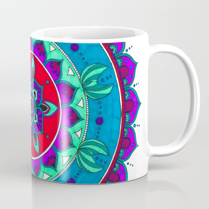 Little Mermaid Inspired Mandala Art Coffee Mug