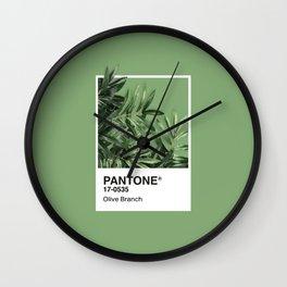 Pantone Series – Olive Branch Wall Clock