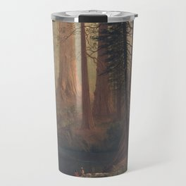 Giant Redwood Trees of California by Albert Bierstadt Travel Mug