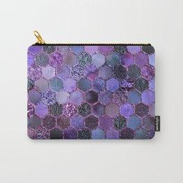 Purple geometric hexagonal elegant & luxury pattern Carry-All Pouch