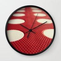 polka dot Wall Clocks featuring Polka dot by Losal Jsk