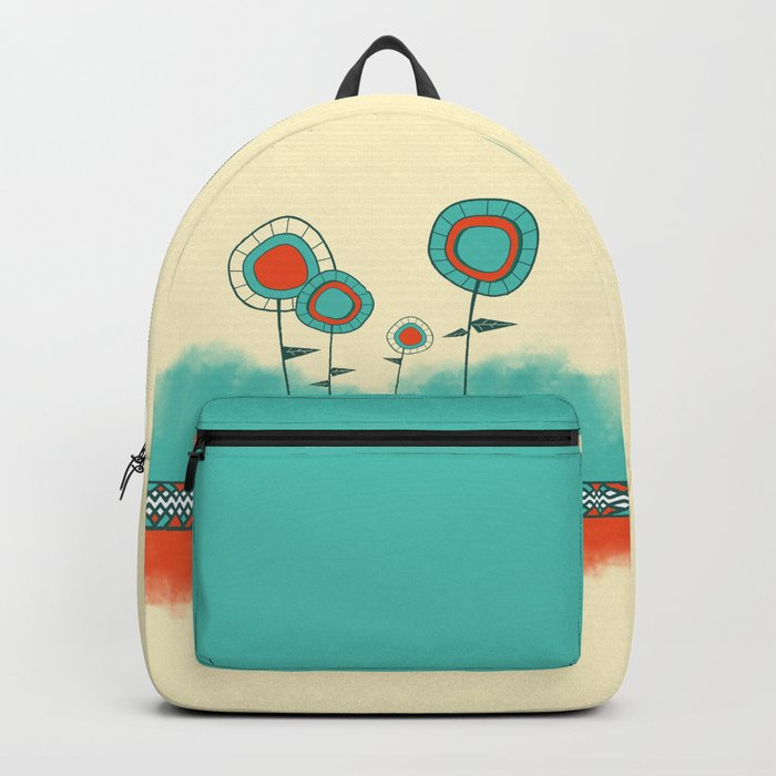 Four Wild Flowers Backpack