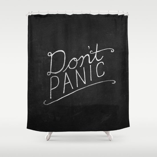 Don't Panic Shower Curtain
