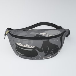 Cat Witch - Mid Century Vintage Grey Fanny Pack