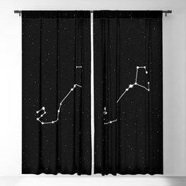 Scorpio Star Sign Night Sky Blackout Curtain