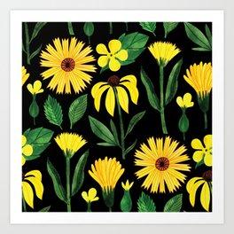 Botanic Watercolor Collection #7 Art Print