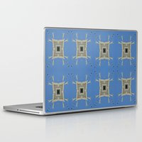 salvador dali Laptop & iPad Skins featuring Salvador Dali Tribute  by Louisa Catharine Art And Patterns