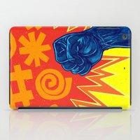 superheroes iPad Cases featuring Superheroes SF by Nick Volkert