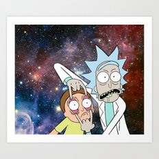 Rick and Morty - Universe Art Print