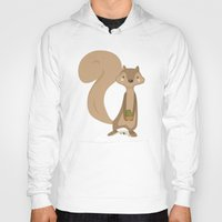 squirrel Hoodies featuring Squirrel by Jane Mathieu