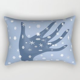Catching Snow Rectangular Pillow