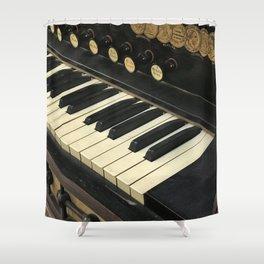 Organ Keys Shower Curtain