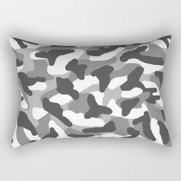 Grey Gray Camo Camouflage Rectangular Pillow
