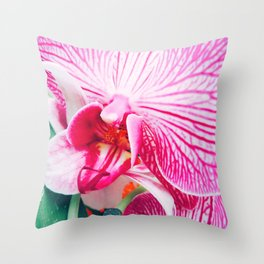 Close up Orchid 20 Throw Pillow