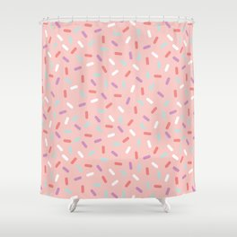 Pink Sprinkle Confetti Pattern Shower Curtain