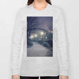 Winter Garden in the Snow Long Sleeve T-shirt