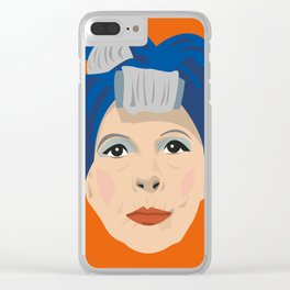Ruth Gordon as Minnie from Rosemary's Baby Clear iPhone Case