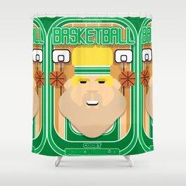 Basketball Green - Court Dunkdribbler - Sven version Shower Curtain