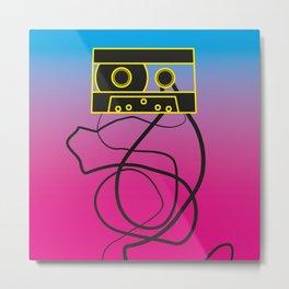 80's problems: Cassette Tape Metal Print