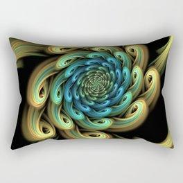 Spiral, Abstract Fractal Art Rectangular Pillow