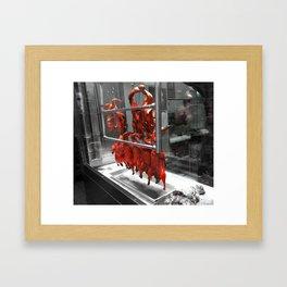 Red Duck Framed Art Print