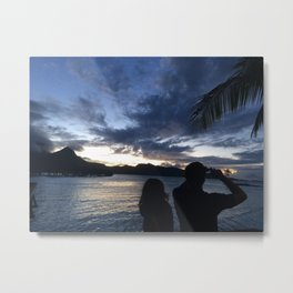 Sunsets and Clouds Metal Print