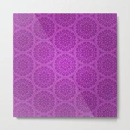 Lavender Dreams - mandala symmetrical pattern - purple tones Metal Print