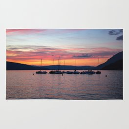 Sunset Lake Annecy Rug