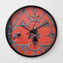 Red Door - Prague, Czech Republic Wall Clock