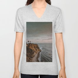 California Lighthouse Sunset Unisex V-Neck
