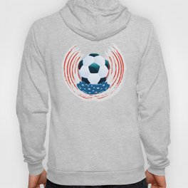 Football Ball and red, white Strokes Hoody