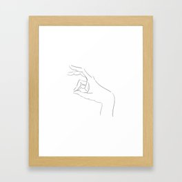 The Rabbit's Shadow Framed Art Print