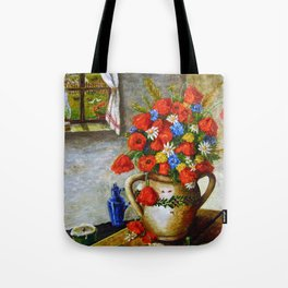 Hungarian Poppies Tote Bag