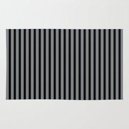 Sharkskin and Black Stripes Rug