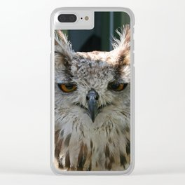 Owl_20180214_by_JAMFoto Clear iPhone Case